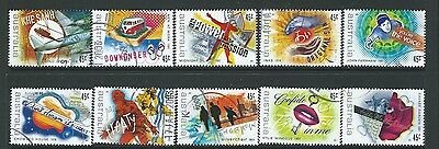 Australien 2001 Rock And Pop Music 10er Set Gestempelt Sg 2079-88 Australien Briefmarken