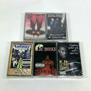 Lot-5-Cassette-Tapes-Houston-TEXAS-H-Town-Rap-90-039-s-Early-2000-Hip-Hop-Kinfolkz
