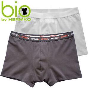 HERMKO-908960-Herren-Pant-Retroshorts-mit-Webbund-aus-Bio-Baumwolle-Elastan