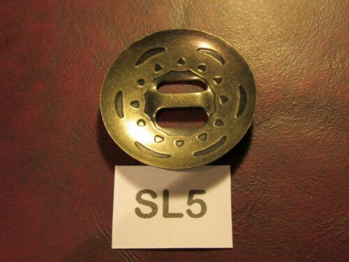 VINTAGE High Quality USA Leather Craft TRINITY CONCHOS ROUND SL5 Solid Nickel S