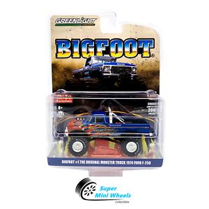Greenlight-1-64-Original-Bigfoot-1-Ford-F-250-Monster-Truck-Flames-In-stock