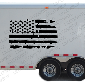 Distressed USA Flag Graphic Decal Motocross DIS12 Kart Race Car RV Trailer ATV