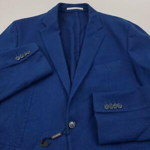 $499 Bugatchi Textured Wool Sport Coat Blazer Jacket Mens Size 40 Solid Blue