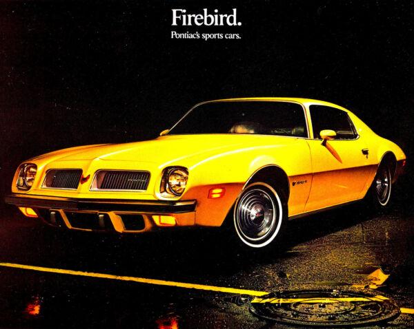 1974 Pontiac Firebird Brochure -firebird-esprit-formula-trans Am 455 Super Volume Grande