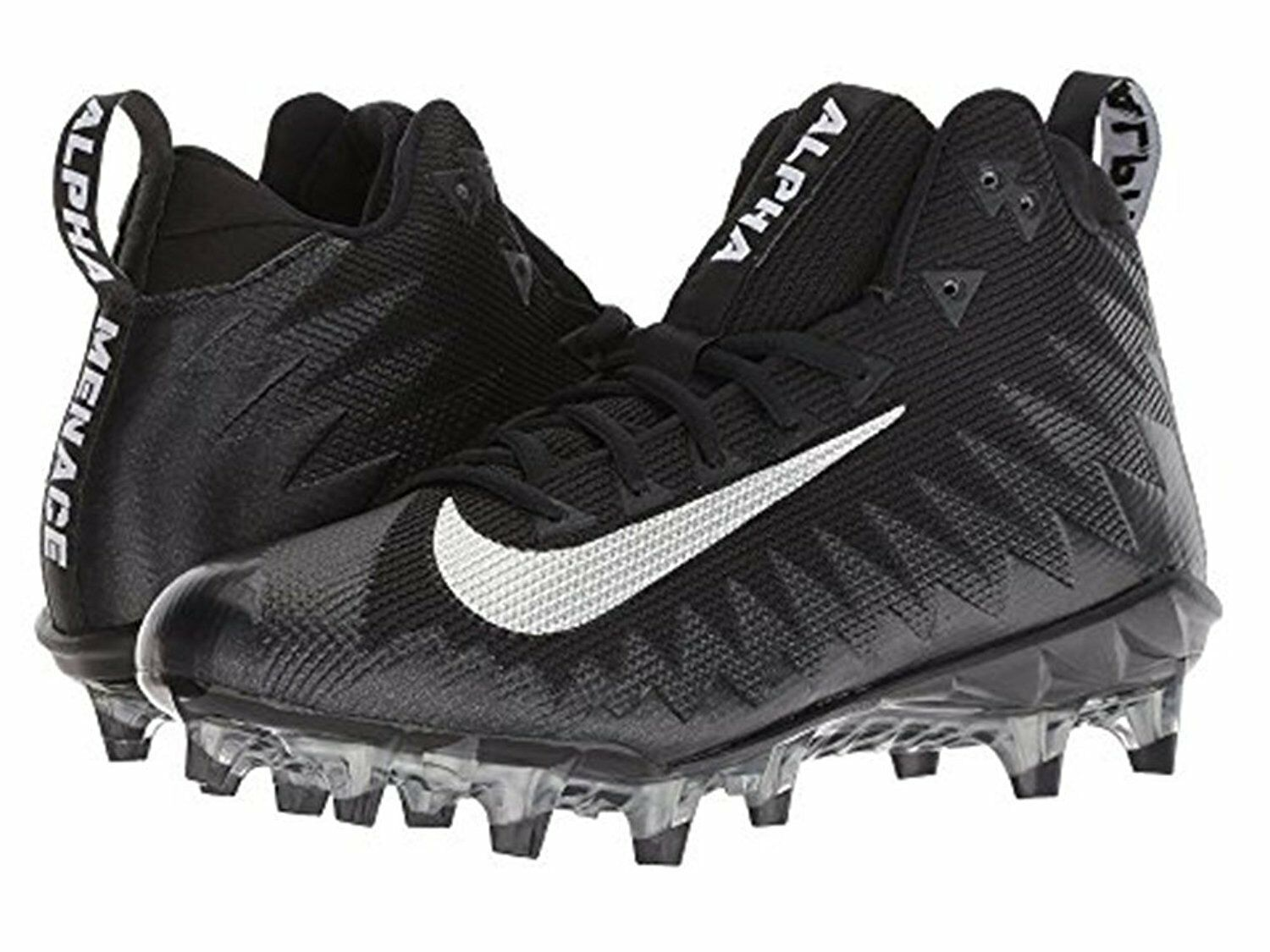 Nike Men's Alpha Menace Pro Mid Football Cleats 871451-003