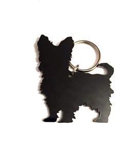 Yorkshire Terrier Yorkie Hund Schlüsselring Keychain Tasche Charm Geschenk Black