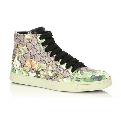 100% authentic GUCCI Blooms Print High-Top Sneakers  sz 11G (12US)
