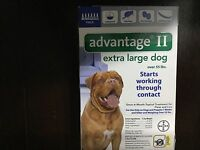 BAYER ADVANTAGE  II FLEA CONTROL FOR XL DOGS OVER 55 LBS- 6 PACK