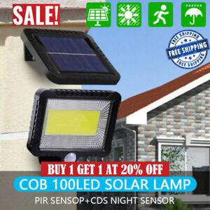 100-LED-Solar-Powered-PIR-Motion-Outdoor-Garden-Light-Security-Flood-Wall-Lamp
