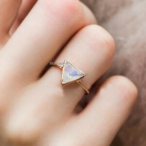 1-13ct-Blue-Moonstone-14k-Rose-Gold-Wedding-Cocktail-Eternity-Ring-Jewelry-US7
