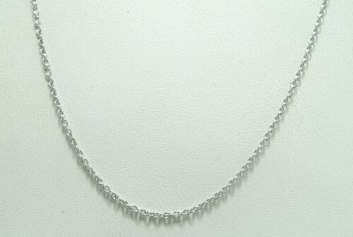 14k White Gold Fine Rolo Link Chain Necklace 16.5 Inch 1.9 Grams D8401