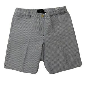 Talbots-The-Perfect-Short-Blue-amp-White-Seersucker-Bermuda-Length-Shorts-Size-10p