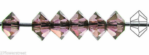 Squished Diamond shape 5305 3x5mm 36 Czech MC Spacer Beads Crystal Vega coat.