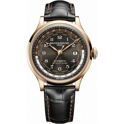 Brand New Baume & Mercier Capeland Worldtimer Men's Automatic Watch MOA10136