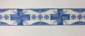 Orphrey-Vintage-Azul-Cielo-Encendido-Blanco-Vestment-Banda-8-9cm-Ancho-Sold-Por
