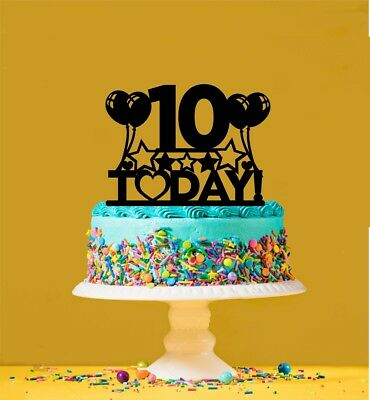 Brilliant 10Th Birthday Cake Topper 10 Years Old Tenth Ebay Birthday Cards Printable Nowaargucafe Filternl