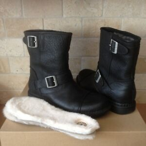 mens leather sheepskin boots