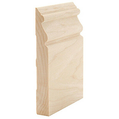 "5 1/2"" Solid Stain Grade Maple Hardwood Base Moulding Wood Baseboard Molding"