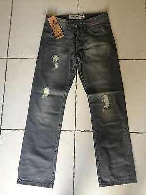 Hommes Vêtements Jeans Pantalons Gris Coton Neuf Fashion Coupe Droit A918/sr Materiali Di Alta Qualità