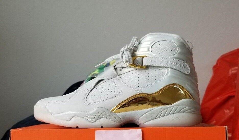 Nike Air Jordan 8 Retro C&C Champagne Light Bone B GradesSize 10.5