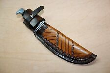 New Custom Hand Made Leather Sheath for a Buck 119 knife or similar size knives