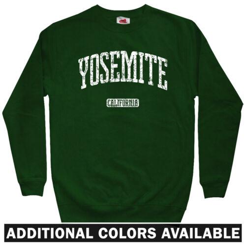 Crewneck S-3X Gift  National Park NPS Yosemite California Men/'s Sweatshirt