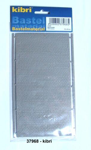 prezzo base 1qm = 143,75 euro Kibri 37968 Spur N 20x12cm Piastra Muro regolarmente