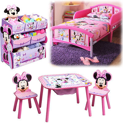 Girl Bedroom Furniture Set Toy Organizer Kid Child Toddler Bed Table Chairs  | eBay