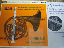 SXL 2238 Mozart Clarinet & Horn Concertos / Tuckwell / De Peyer / Maag W/B