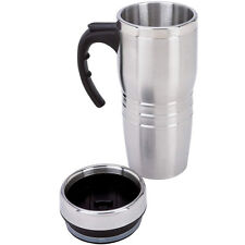 16oz Stainless Steel Coffee Cup Insulated Thermos Travel Mug Tumbler w/Handle