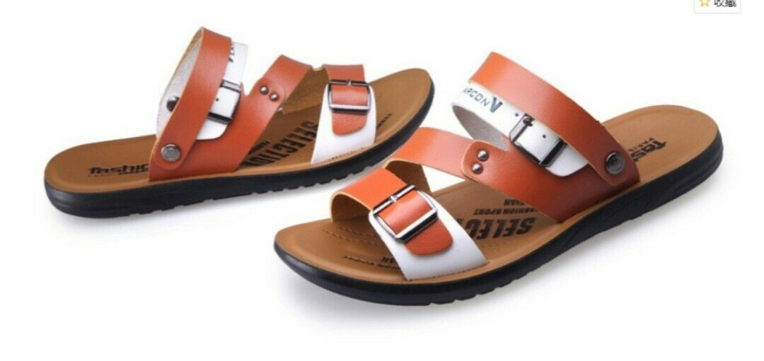 Men's Stylish soft leather summer sandals casual wear sports holiday sandals