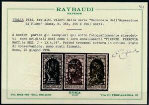 Italien-1934-Jahrestag-Annexion-Fiume-1-75-L-2-55-L-2-75-L-Sassone-354-356