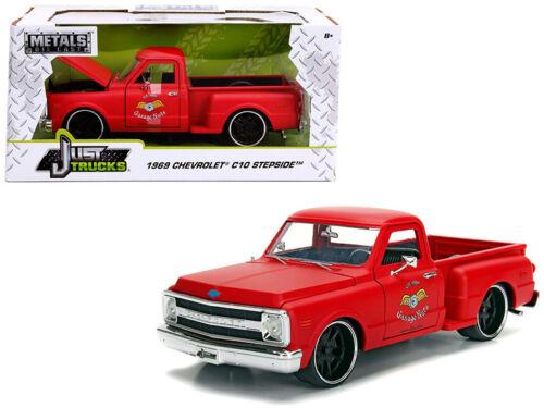 1//24 Jada 1969 Chevrolet C10 Stepside Pickup Garage Nuts Diecast Matte Red 99322