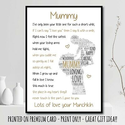 Personalised baby or childs t-shirt top 1st mothers day mummy nanny present gift