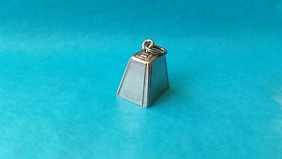 Vintage 3.1g Sterling Silver Bell Traditional Charm with Movable Striker