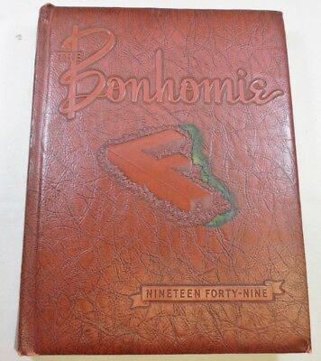 Vintage Class School College Yearbook 1949 The Bonhomie Furman University SC