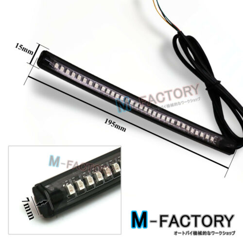 For Harley Davidson 1pc Led Strip Bar Integrate Tail Stop /& Indicator Light