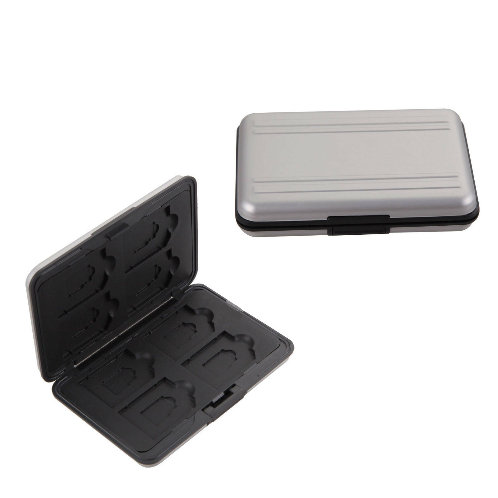 Aluminum Memory Card Wallet 16 Micro SD SDHC Protecter Storage Holder Pouch Case 2