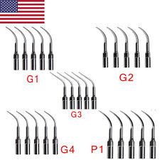 5pcs Usa Dental Ultrasonic Perio Piezo Scaler Tips Compatible Ems Handpiece Sk