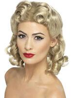Smiffy's Women's Blonde 40's Sweetheart Wig With Curls
