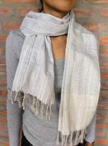 Krama-traditionnel-Echarpe-Khmere-GRIS-100-COTON-Tisse-scarf-Cambodge-56
