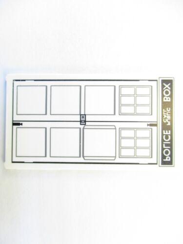 LEGO White Glass for Window 1x4x6 Police Call Box Tardis Door 1 Part Piece 57895