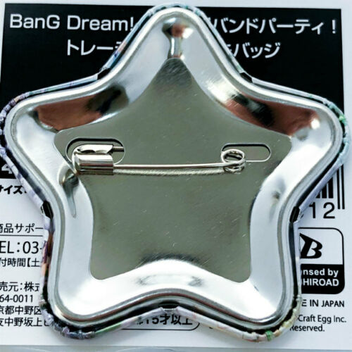 Girls Band Party Roselia Star Type Tin Badge BanG Dream Ako Yukina Rinko...