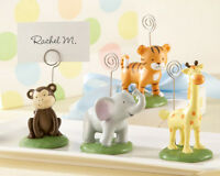 24 Wild Zoo Jungle Animal Photo Place Card Holder Baby Shower Birthday Favor