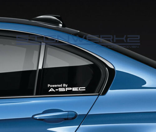 Powered By Aspec Decal Sticker logo Vtec Civic Type R Accord USA Pair