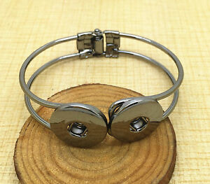 NEW-Jewelry-Black-Round-bracelets-fit-for-noosa-snaps-chunk-charm-button-XDE05