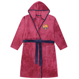d19e670c2d FC Barcelona Official Football Gift Mens Hooded Fleece Dressing Gown ...