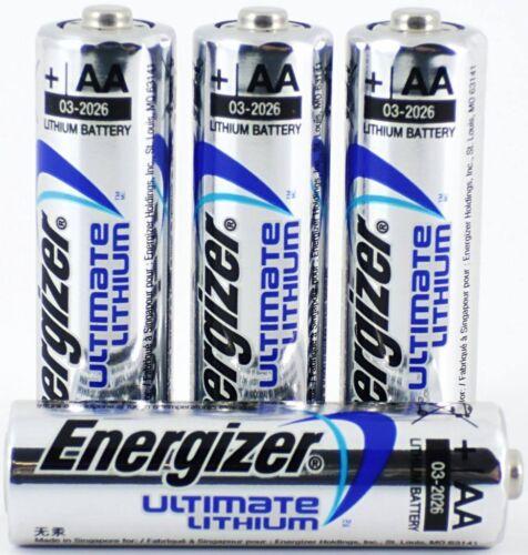 Encogimiento Pack de 4X Energizer AA Pilas de litio avanzado LR6 L91 MN1500 1.5 V