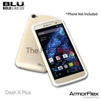 Blu Dash X Plus D950u Armor Flex Rubber Shell Protector Phone Case Gold