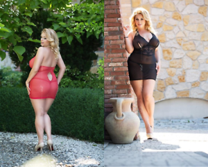 FOR CURVY GIRLS - Plus Size - Sexy Negligee Dessous Babydoll - XL-3XL 46-56